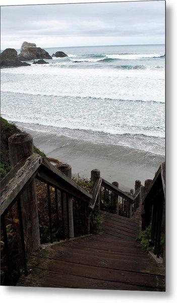 Surf Stairway Metal Print