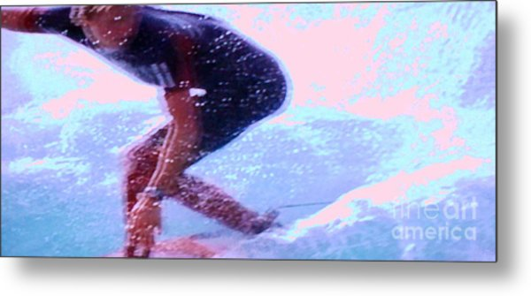 Surf The Big Wave Metal Print