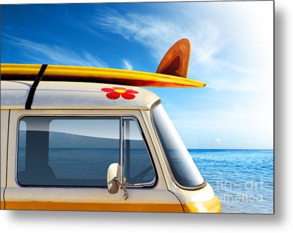Surf Van Metal Print