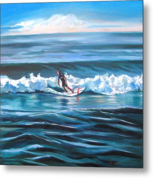Surf Metal Print by Yvonne Dagger
