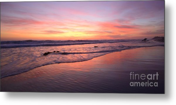Surfer Afterglow Metal Print