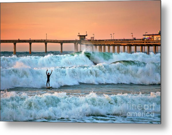 Surfer Celebration Metal Print