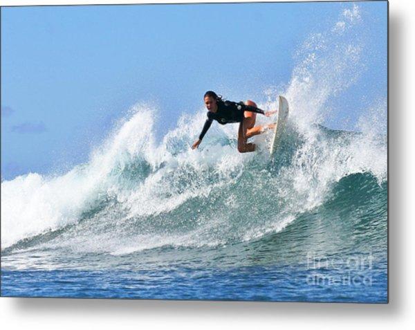 Surfer Girl At Bowls 5 Metal Print
