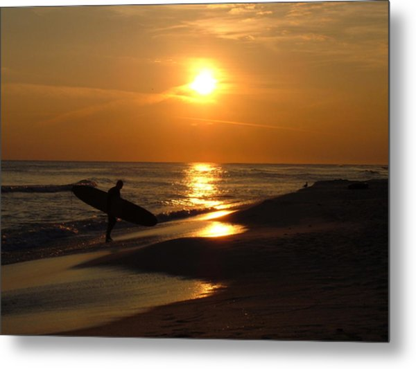 Surfer Metal Print by Navarre Photos