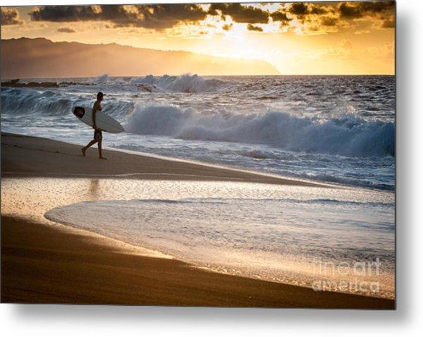 Surfer On Beach Metal Print