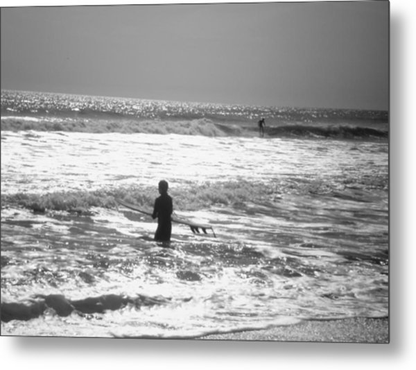 Surfers Metal Print by Utopia Concepts