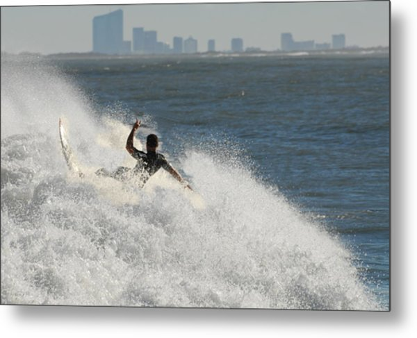 Surfinf 94 Metal Print by Joyce StJames