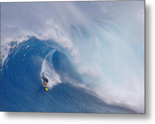 Surfing Jaws Metal Print