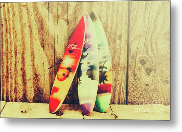 Surfing Still Life Artwork Metal Print