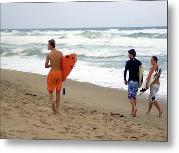 Surfs Up Boys Metal Print