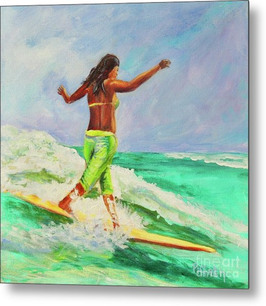 Surfer Girl Metal Print