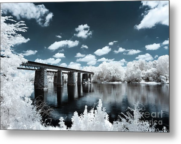 Surreal Crossing Metal Print