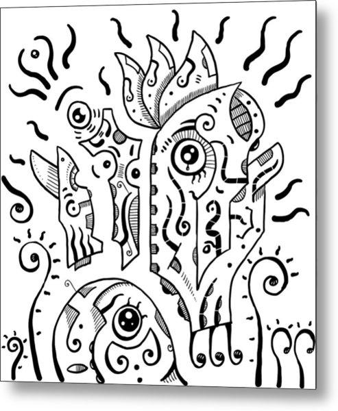 Surrealism Eyes Metal Print
