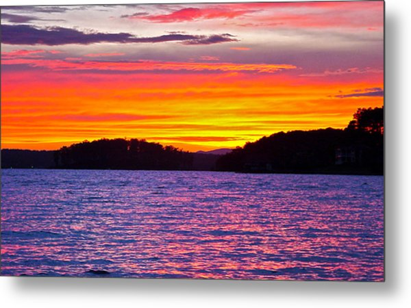 Surreal Smith Mountain Lake Sunset 2 Metal Print