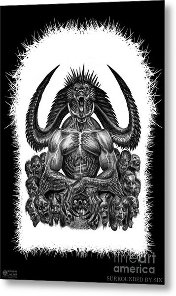Surrounded By Sin Metal Print