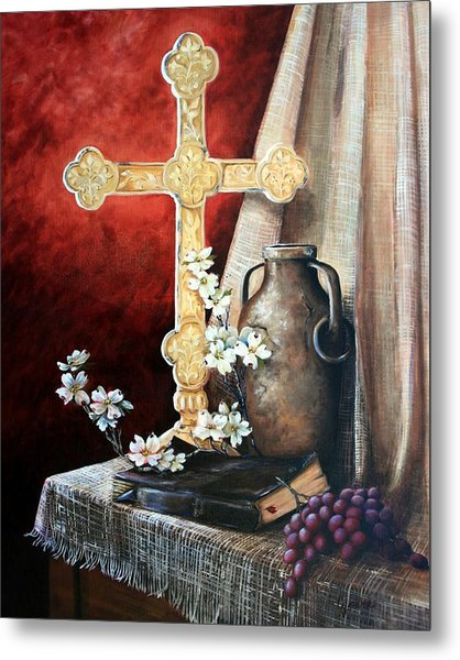 Survey The Wonderous Cross Metal Print