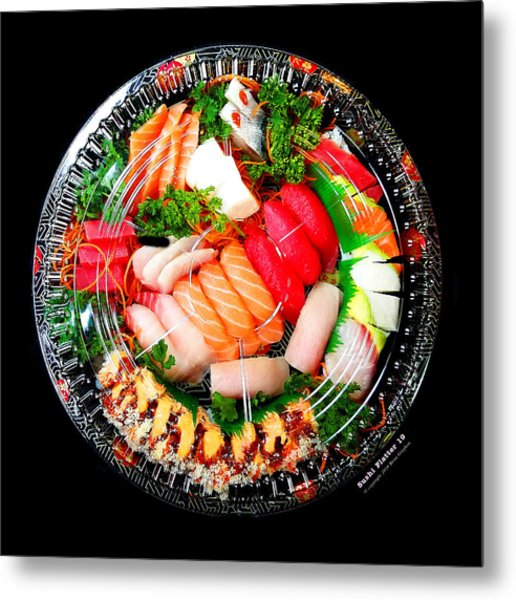 Metal Print featuring the photograph Sushi Platter 19 by Brian Gryphon
