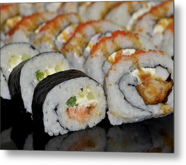 Sushi Rolls From Home Metal Print