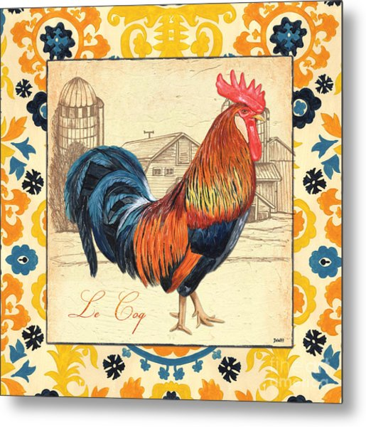 Suzani Rooster 2 Metal Print