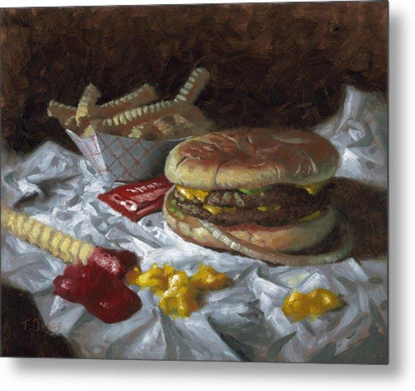 Suzy-q Double Cheeseburger Metal Print