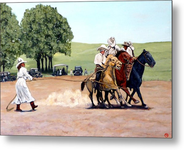 Suzzi Q. Whirling The Rope Metal Print