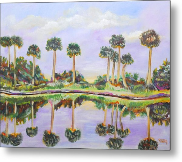 Swamp Palms Metal Print