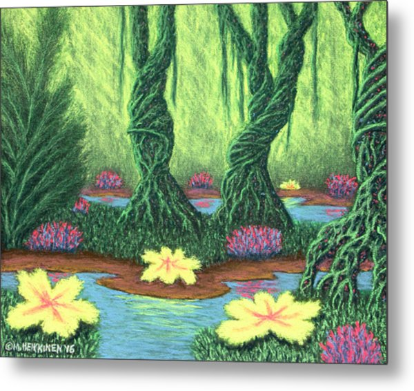 Swamp Things 02, Diptych Panel A Metal Print