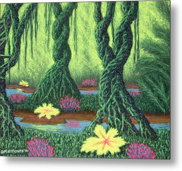 Swamp Things 02, Diptych Panel B Metal Print