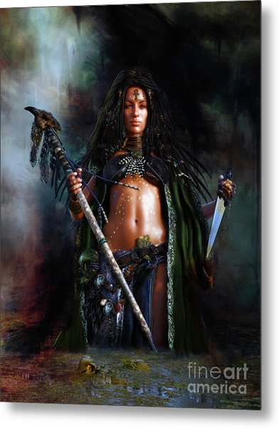 Swamp Witch Metal Print