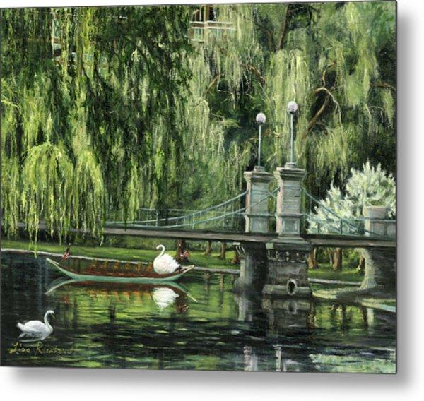 Swan Boats Metal Print
