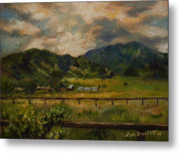 Swan Valley Hillside Metal Print