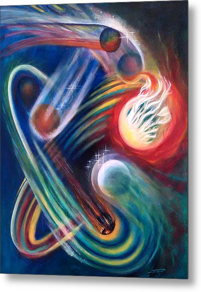 Metal Print featuring the painting Swandance by Thomas Lupari