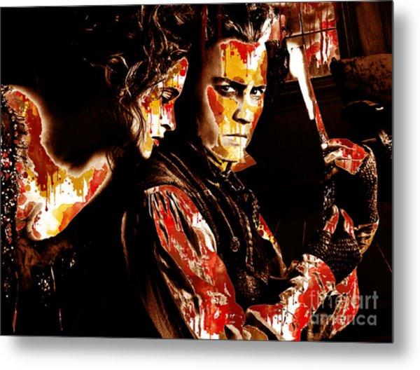 Sweeney Todd - Johnny Depp,helena Bonham Metal Print