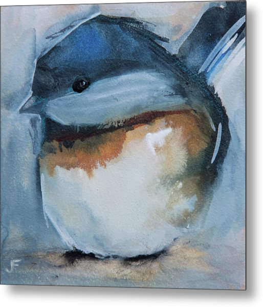 Sweet Chickadee Metal Print