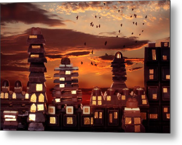 Sweet Cityscape  Metal Print by Floriana Barbu