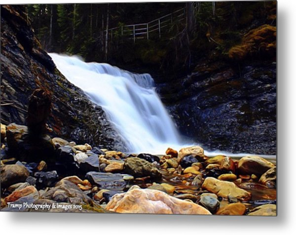 Sweet Creek Falls , Wa Metal Print
