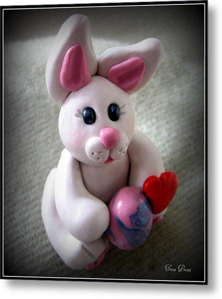 Sweet Little Bunny Metal Print by Trina Prenzi