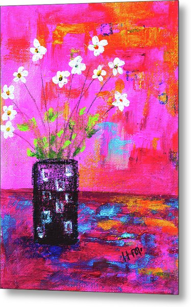 Sweet Little Flower Vase Metal Print