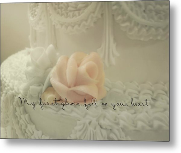 Sweet Love Quote Metal Print by JAMART Photography