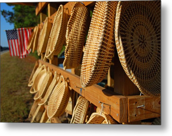Sweetgrass Baskets Metal Print
