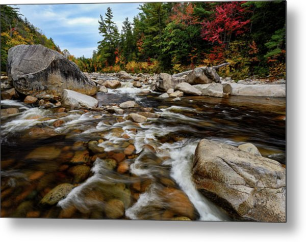 Metal Print featuring the photograph Swift River Autumn Nh by Michael Hubley