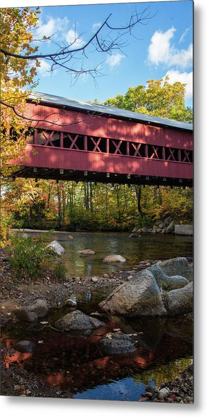 Swift River Covered Bridge Metal Print