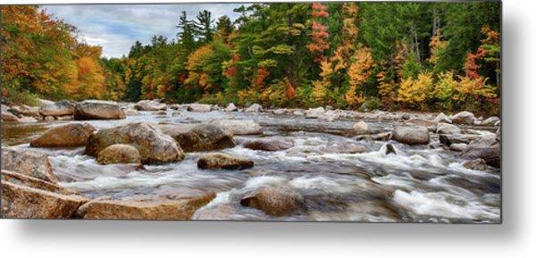 Swift River Runs Through Fall Colors Metal Print
