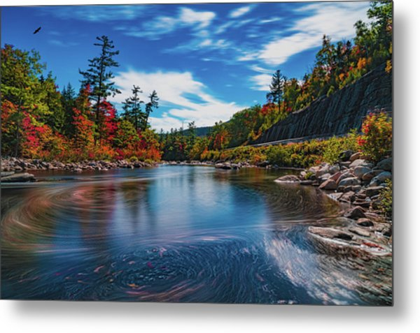 Metal Print featuring the photograph Swift River Swirls by Chris Lord