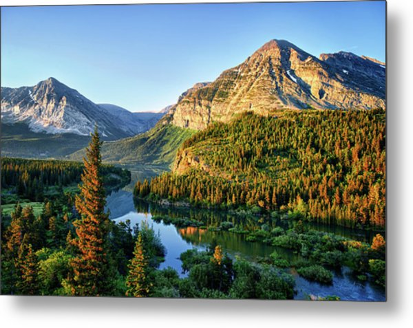 Swiftcurrent Morning Metal Print