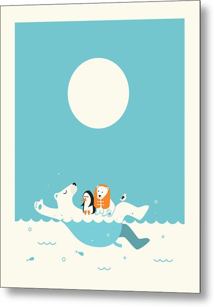 Swimming Lessons 1 Metal Print