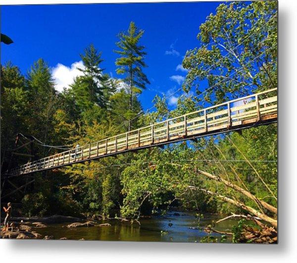 Toccoa River Swinging Bridge Metal Print