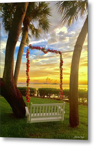 Swinging In Sunset Metal Print