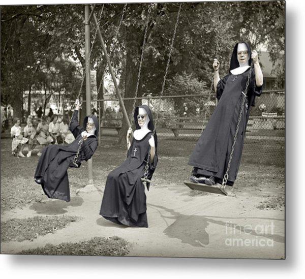 Swinging Nuns 1960 Metal Print
