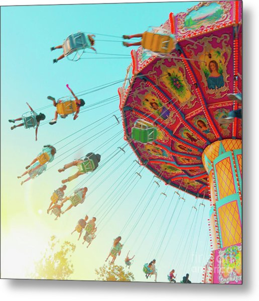 Metal Print featuring the photograph Swings by Cindy Garber Iverson